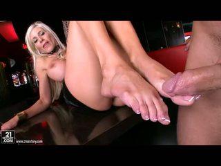 Nasty Honey Puma Swede Gets Those Sexy Hot Feet Screamed After One Nice Fuck
