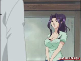 Mom jepang hentai gets squeezed her bigboobs