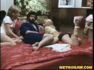 threesome în sex, alleta threesome, porno retro