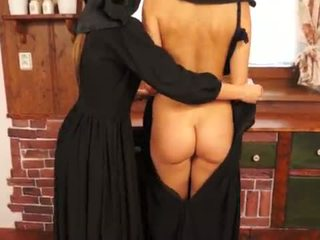 Непристойна catholic nuns виготовлення sins і licking манда