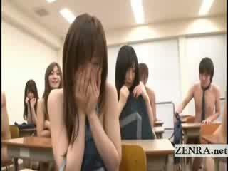 vysoká škola, japonec, striptýz