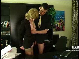 crossdresser, ofis, anal