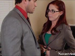 Scarlet testa penny pax bump in ufficio onto perversi america