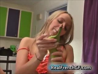 Blonde French Hottie Makes Whipped