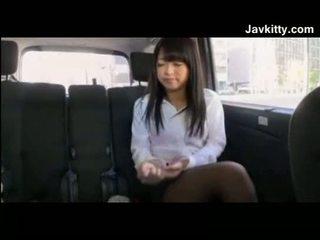 Amateur Japanese Girl Wearing Black Pa...