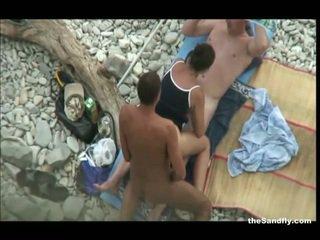 voyeur, plage, hot nudism