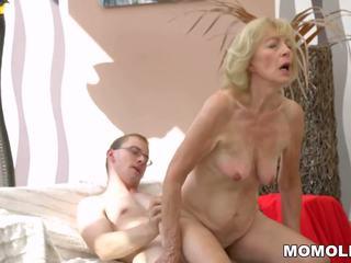 Seksi perempuan tua creampied: gratis lusty grandmas resolusi tinggi porno video b8