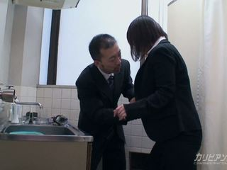 Asian office babe gets nailed by her boss