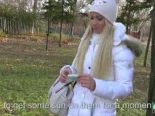 Green Eyed Amateur Blonde Eurobabe Kiara Banged In Public