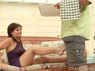 Hot grandma enjoying nasty sex