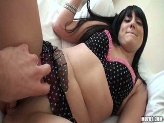 brunette, natural tits, homemade porn