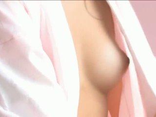 Iori mizukilovely nhật bản bé gets núm vú licked và đặt ra