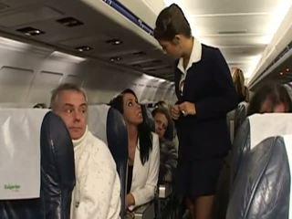 硬 性别 同 很 热 stewardesses