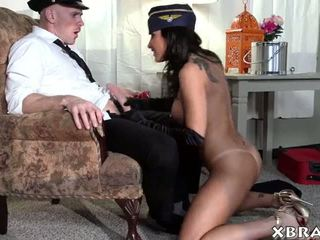 Stewardess MILF is an escort girl as well and she fucks alot
