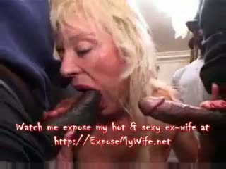 French Busty Blonde Mature Gangbang Video