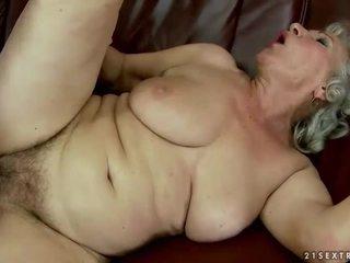 Busty chubby grandma gets fucked