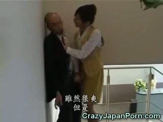 مجنون وظيفة اليد في tokyo مكتب!