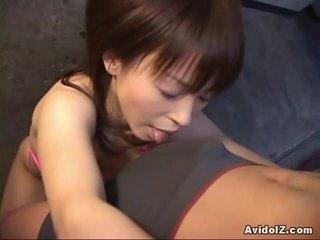Horny Japanese Ai Himeno Gives The Great Blowjob