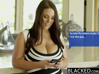 BLACKED Big Natural Tits Australian Babe Angela White Fucks BBC