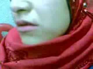 mujer, árabe, cremita