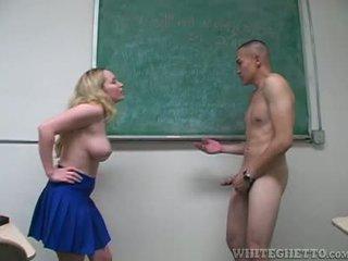 Aiden starr takes péče na 2 perverts v ji školní třída