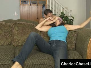 Charlee chase nakatali tickled at foot fucked!