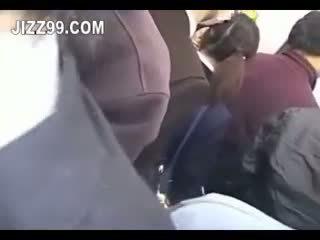 Japanese Schoolgirl Creampie Fucked In Train 02