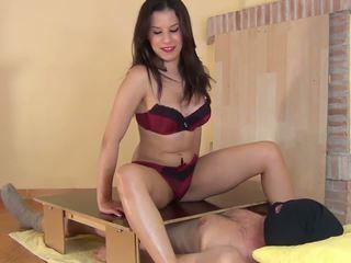 Oily Handjob and Footjob on the Gloryhole: Free HD Porn 17