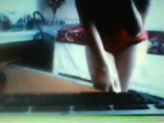 webcam, adolescent, fait à la maison