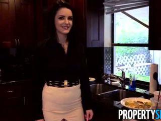 Propertysex - careless πραγματικός estate agent fucks αφεντικό να διατήρηση αυτήν δουλειά