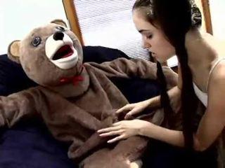 Sasha Grey fucks a Teddy Bear