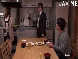 brunette, japonais, cul