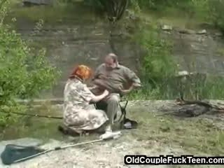 Fishing trip with a threesome