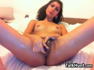 brunette, toys, webcam