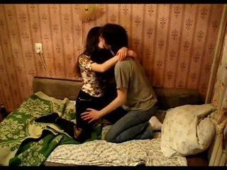 Asian couple kissing