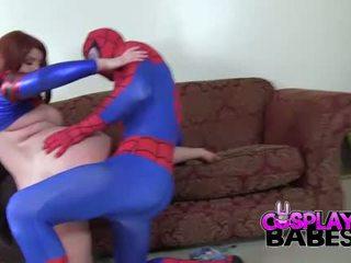 Ερωτικό παιχνίδι ρόλων babes spiderman likes μεγάλος βυζιά