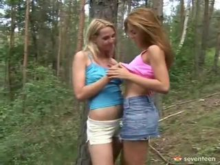 2 Sensuous Teen Forest Nymphs