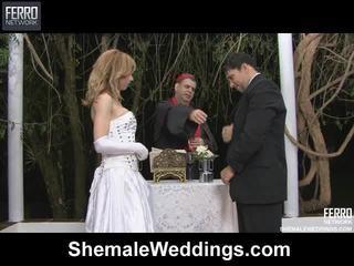 Mischen von alessandra, engel, senna von shemale weddings