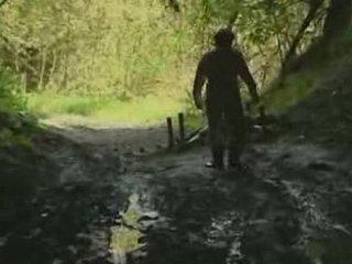 dívka, les, rape