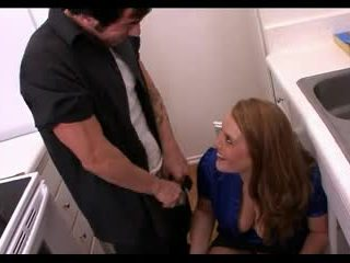 Big Tit Hairy Redhead and The Plumber