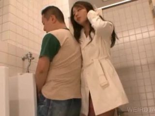 Bitchy asian teen gives blowjob in public
