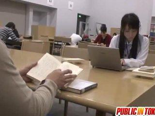 Seksi japonsko študent zajebal v the učilnica