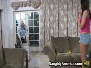 مرح امرأة سمراء سخونة, اللسان, يتم التصويت عليها فتاة أنت