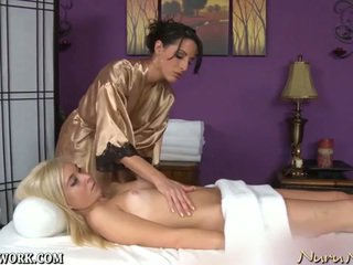Lesbian massage and pussy licking