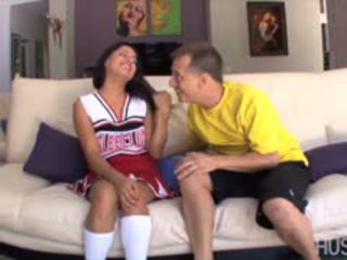Latina Cheerleader Fucking Old Man