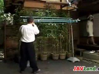 Japanese MILF Sucking Her Neighbors Cock