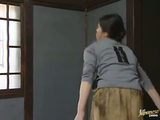 Sensuous Japanese Housewife Has Shaged Giant Onto The Floor