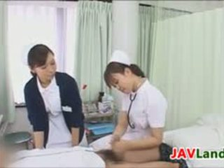 Japanese Nurse Sucking Her Patients Cock