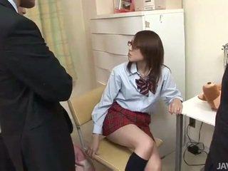 Japońskie nastolatka rino mizusawa napalone cios walenie