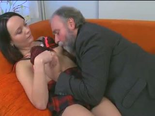 Kinky young girl enjoys old boner